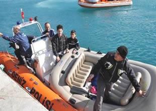 Denizde mahsur kalan 6 kişi kurtarıldı