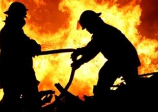 Samsun'da gemide yangın tüpü patladı