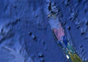 Büyük Okyanus sularında hayalet ada