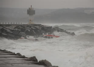 Kıyı Emniyeti botunun kaza görüntüleri