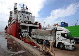 Nakliyeci Suriye'yi Ro-Ro ile denizden aştı