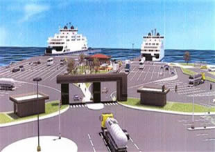 Gelibolu feribot iskelesi için imzalar atıldı