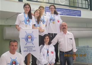 Çanakkale yüzücüleri Türkiye şampiyonu