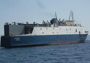 Hastalıklı inek taşıyan gemi bağlandı