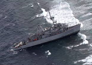 ABD mayın gemisi kayalıklara oturdu