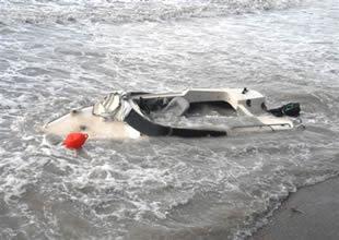 Çanakkale'de fırtına tekneleri batırdı