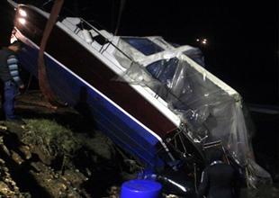 Bodrum'da 3 tekne ile sürat motoru battı