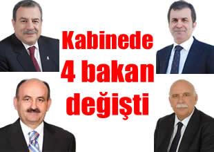 Başbakan, kabinede 4 bakanı değiştirdi