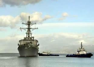 ABD Savaş gemisi Kuşadası'na demirledi