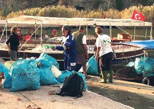 Dalyan'da gönüllü temizlikçiler artıyor