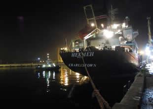 Aliağa limanlar bölgesinde gemide yangın