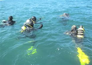 Su altı arama kurtarma ekibine eğitim