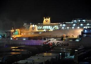 Ro-Ro gemisinde TIR yangını korkuttu