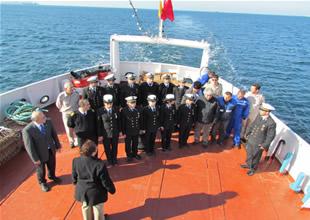 İTÜDF Eğitim Gemisi Çanakkale'de