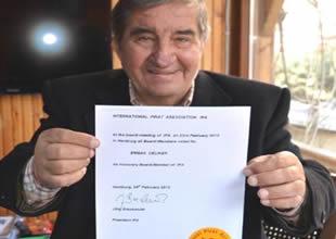 Erman Çeliker IPA onursal başkanı oldu