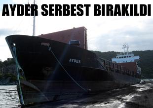 Gürcistan'da tutulan gemi serbest bırakıldı