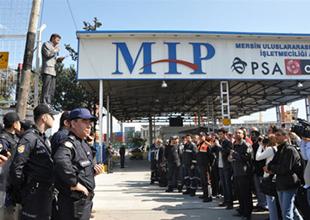 Mersin Limanı'nda eylem sona erdi
