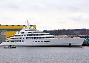500 milyon Euro'luk Azzam denize indi