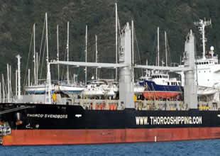 Yatlar, gemiyle Marmaris'e taşınıyor