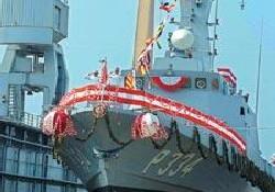 Milli Gemilere Bayrak Çekiliyor
