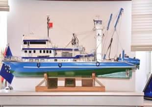 62 metrelik balıkçı gemisinin maketi yapıldı