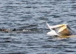Kırşehir'de deniz bisikleti alabora oldu