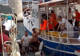 Marmaris'te Sahil Güvenlik botu battı