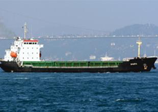 Kocaeli'de kuruyük gemisi iskeleye çarptı