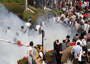 Gezi Parkı'nda tansiyon yine yükseldi
