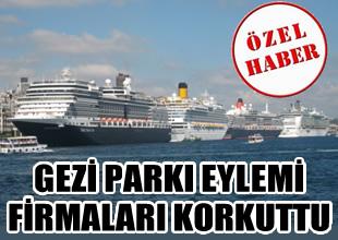 Gezi Parkı, Cruise firmalarını korkuttu