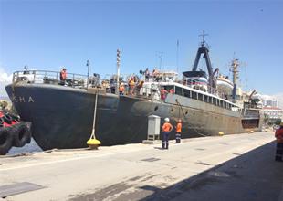Rus askeri gemisi Lena Mersin Limanı'nda