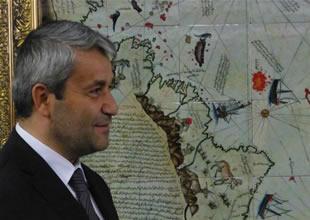 Piri Reis Haritası IMO duvarını süslüyor