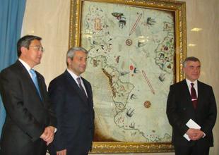 Piri Reis Haritası, IMO duvarını süsledi
