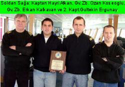 VOS Ödüllü İlk Türk Gemisi