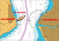 Kilitbahir'de Tanker Karaya Oturdu