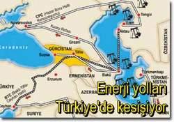 Enerji yolları Türkiyede kesişiyor