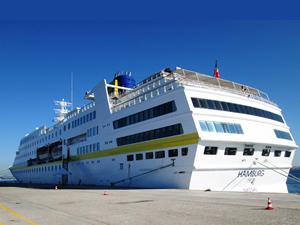 """Sezonun ilk gemisi """"Hamburg"""" Çanakkale'ye demirledi"""