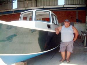 Burhaniyeli tekne ustası Amerika'lı teknecilere rakip oldu