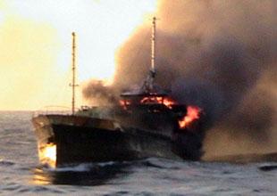 Balıkçı gemisinde yangın: 9 balıkçı öldü