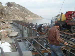 Akdamar Adası'na yeni iskele yapıldı