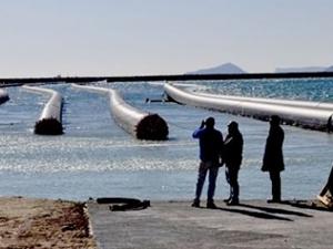 KKTC'ye içme suyu sağlayacak terminal projesinde, elektrik üretimine başlandı