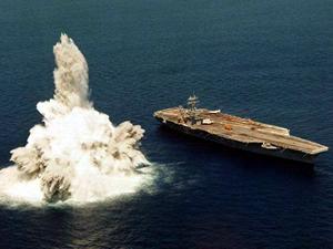 ABD uçak gemisi Fransız denizaltısı tarafından batırıldı