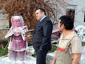 Antalya Sualtı Müzesi'nde sergilenecek heykellerin yapımı sürüyor