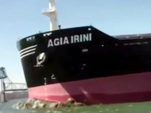 M/V AGIA IRINI isimli dökme yük gemisi, Delaware Nehri'nde karaya oturdu