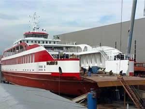 Türkiye'nin en büyük yerli feribotu 'Balıkesir 10', yarın denize indiriliyor