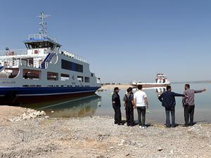 Karakaya Baraj Gölü'nde harita çalışmaları başladı