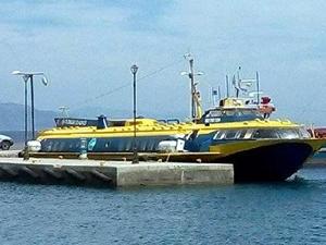Arızalanan Türk feribotu Yunan adasına çekildi