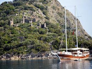 Fethiye'deki Aya Nikola (Gemiler) Adası turizme kazandırılıyor