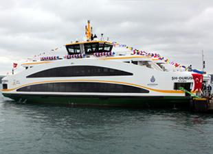 Özata Tersanesi'nin inşa ettiği Double Ended tipi gemiler İstanbul Şehir Hatları filosuna dahil oldu