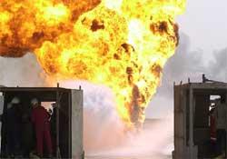 Petrol tankerinde patlama